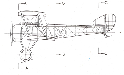 Sopwith Pup Line Drawing Side View