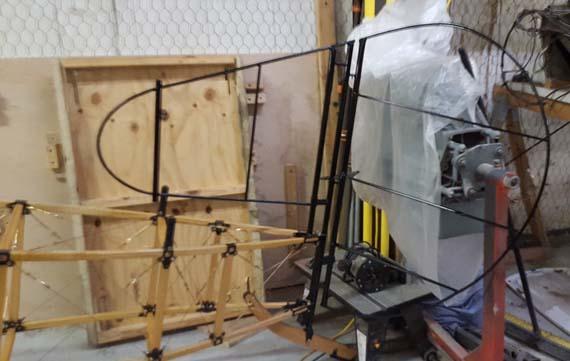 Building a Sopwith Strutter - vertical stabilizer