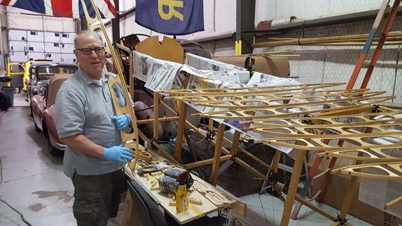 Building a Sopwith Strutter - wing ribs.
