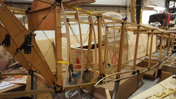 Adding side formers to Sopwith 1 1/2 Strutter fuselage