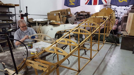 Building a Sopwith Strutter - sanding formers