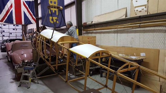 Plywood decking on Sopwith 1 1/2 Strutter