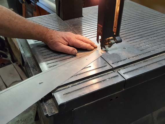 Building A Sopwith Strutter - flange for aileron