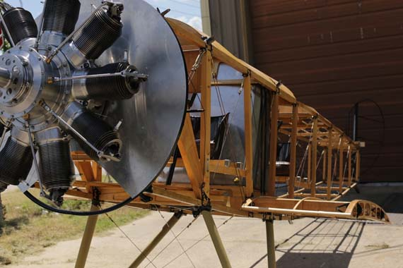 Sopwith 1 1/2 Strutter fuselage, rotary engine and undercarriage