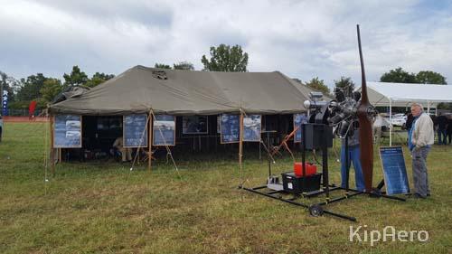 KipAero HQ and Gnome rotary engine at Dawn Patrol Rendezvous