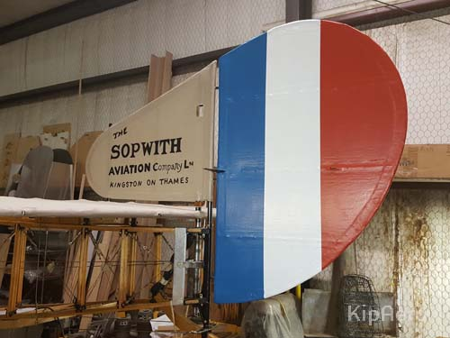Sopwith Strutter trilcolor vertical stabiliser and rudder