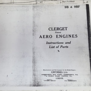 Part Manual for the Clerget aero engines
