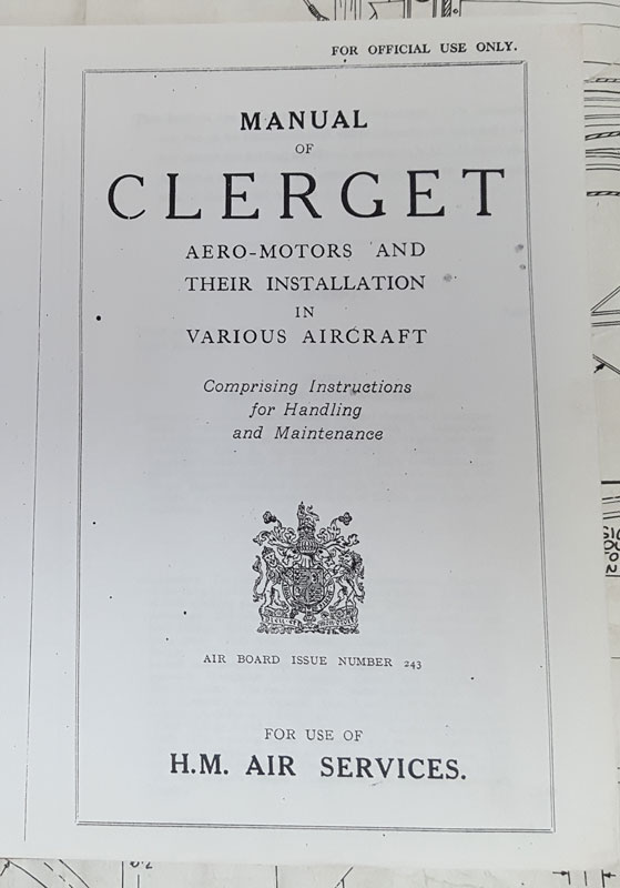 Shop manual for the Clerget 9Z rotary engines