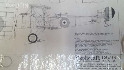 Sopwith Strutter Original Drawings by Replicraft
