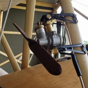 Rotherham Air Pump Installed on Sopwith Strut