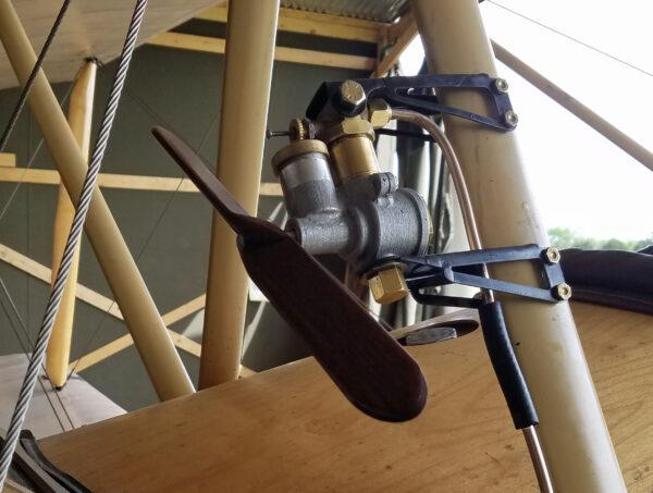 Rotherham Air Pump Installed on Sopwith Strut