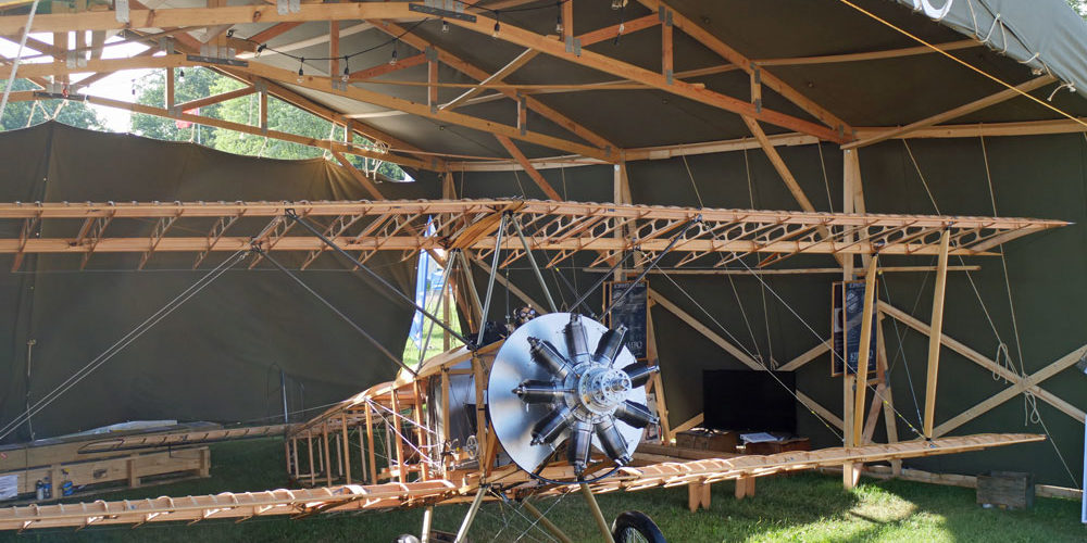 Sopwith 1 1/2 Strutter naked with no outer covering