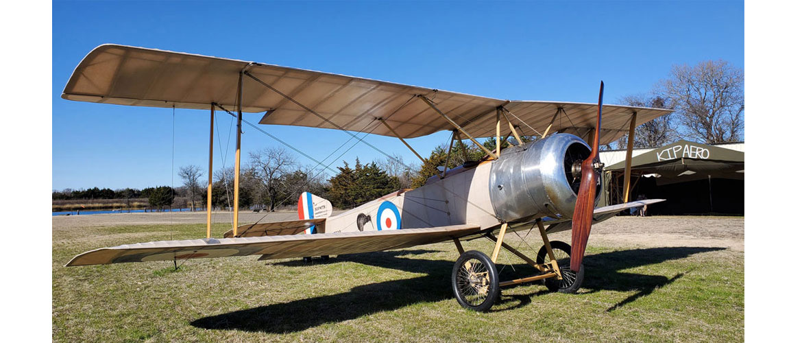Sopwith 1½ Strutter fitted with Gnome Monosoupape rotary engine is ready for flight