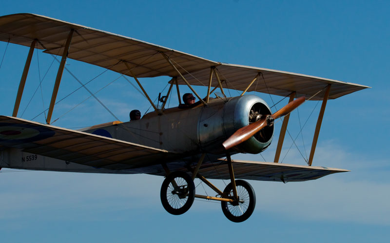 The Sopwith 1 1/2 Strutter Flies