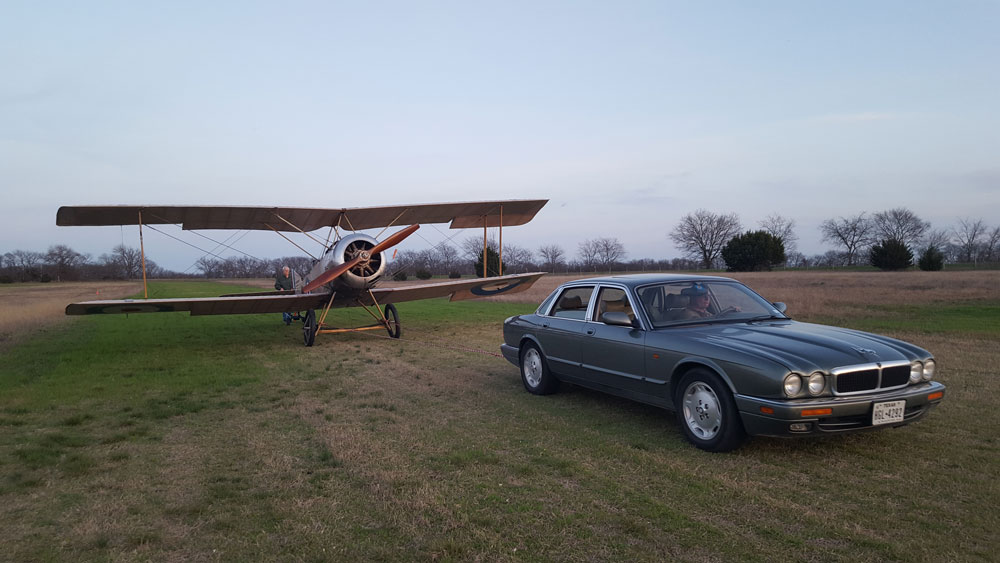 Towing Sopwith Strutter is easy on the groundcrew